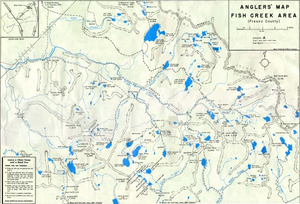 Fish Creek Area Anglers' Map