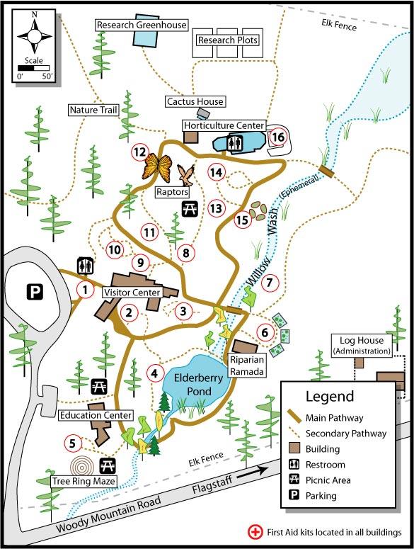 Flagstaff Arboretum Map Flagstaff AZ mappery