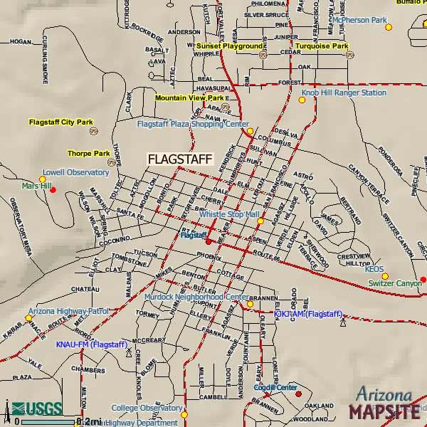 Flagstaff Arizona City Map Flagstaff Arizona mappery