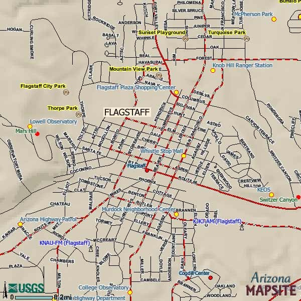 Flagstaff Arizona City Map Flagstaff Arizona Mappery - City map of arizona
