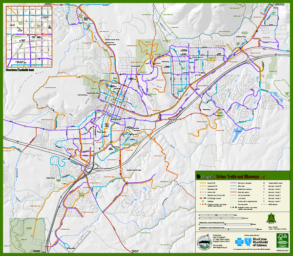 Map Of Flagstaff Arizona.Flagstaff Urban Trails And Bikeways Map Mappery