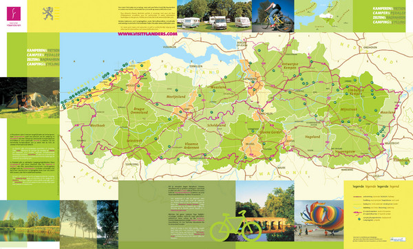 camping in belgium map Flanders Camping And Cycling Map Flanders Belgium Mappery camping in belgium map