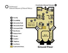 Floor Map of the Smithsonian National Museum of...