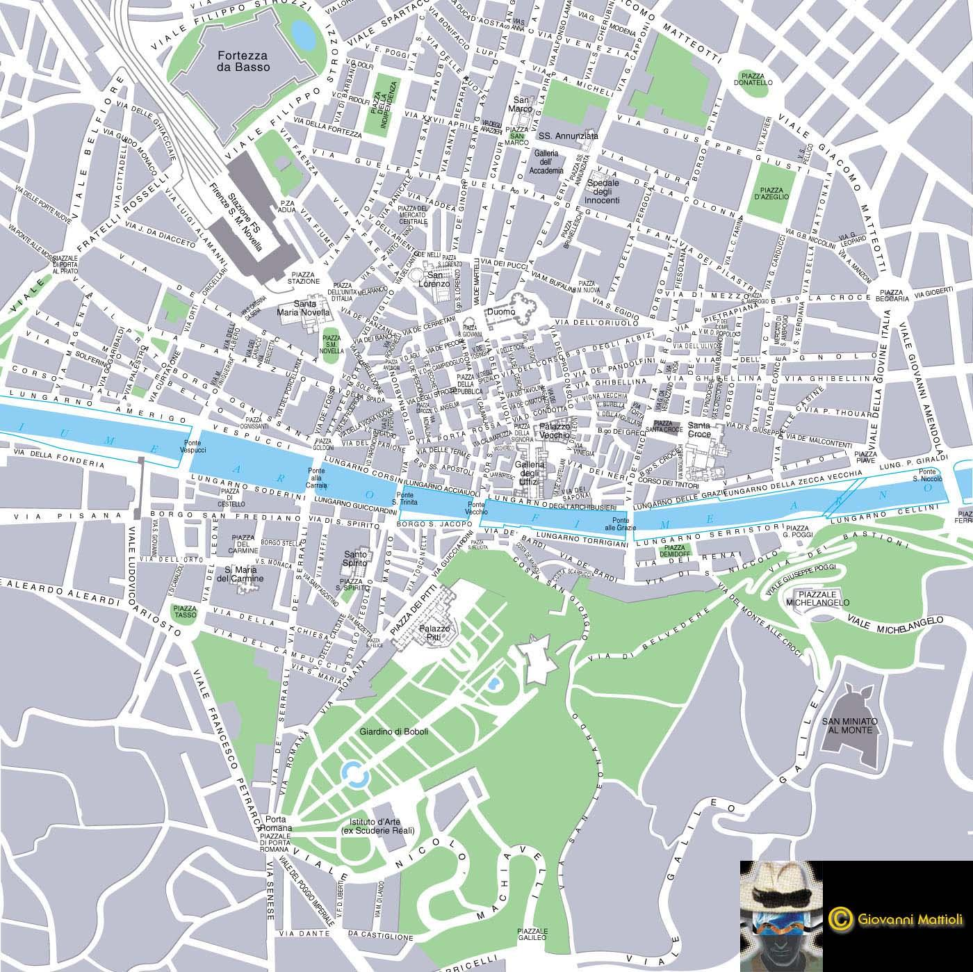 Florence map see map details from geocities co jp