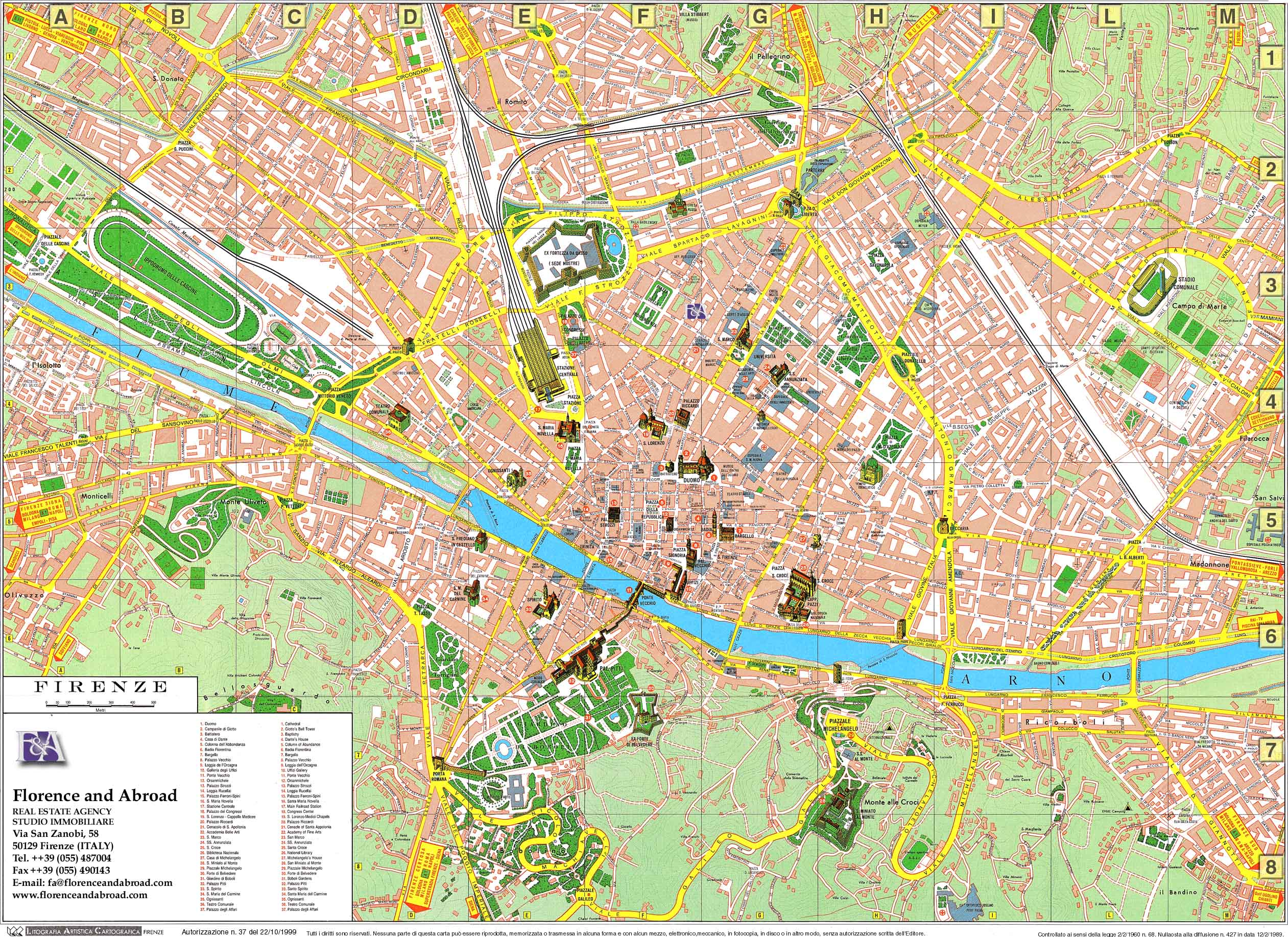 Florence Map - Florence Italy • mappery