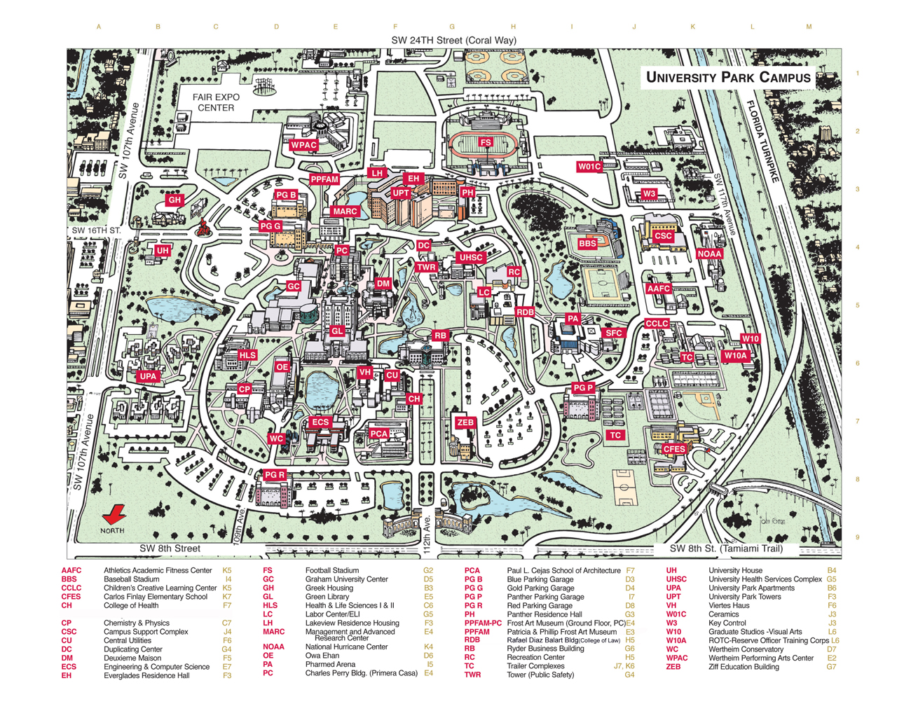Miami Oxford Campus Map.About Map Of Florida State University Campus Florida Map State
