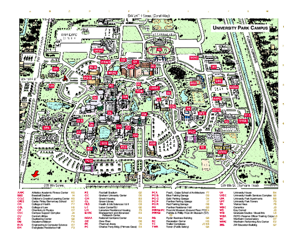 Florida International University Map Miami Florida Mappery