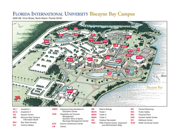Florida International University at Biscayne Campus Map