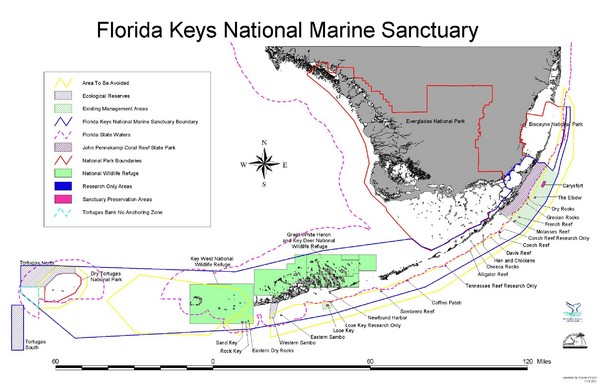 Map Of Florida Keys.Florida Keys National Marine Sanctuary Map Mappery