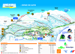 Font d'Urle Ski Trail Map