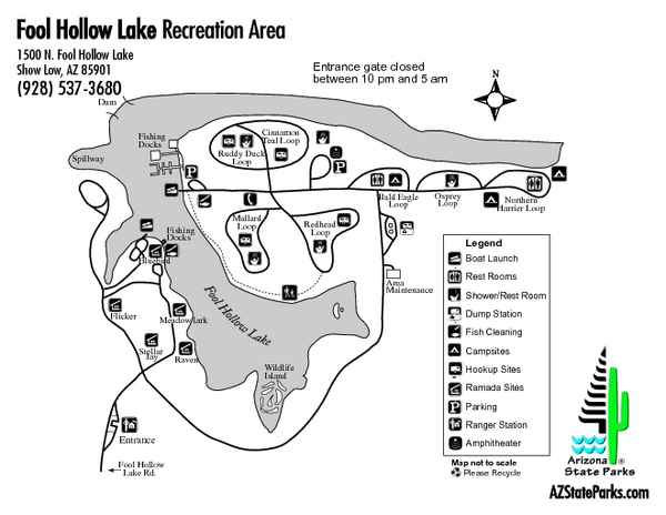 Fool Hollow Lake Recreation Area Map