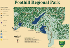 Foothill Regional Park Map