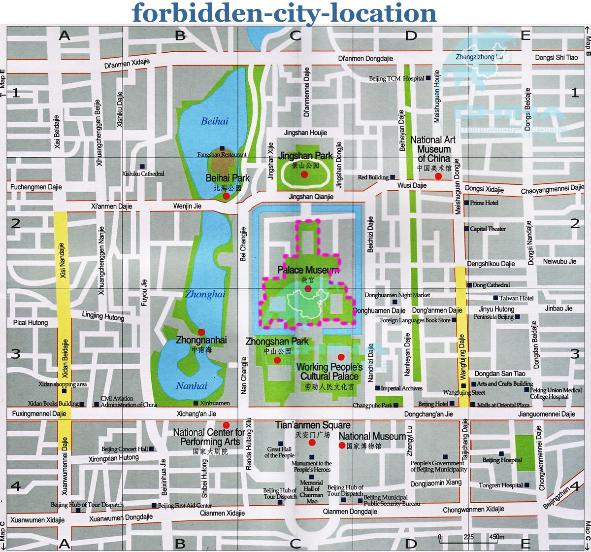 Forbidden City Tourist Map Forbidden City mappery