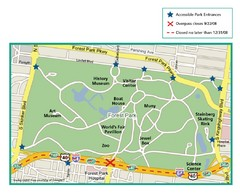 Forest Park, St. Louis Map