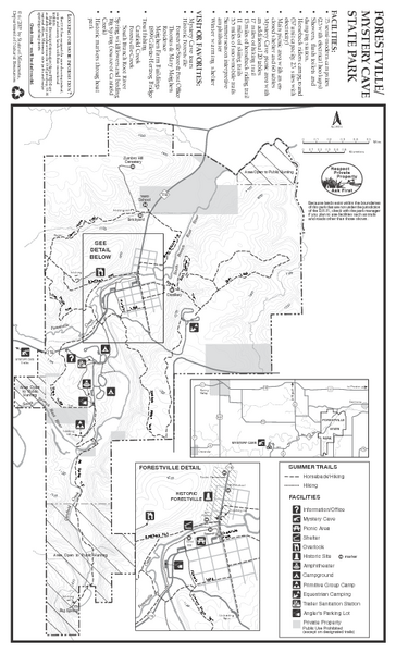 Forestville/Mystery Cave State Park Map