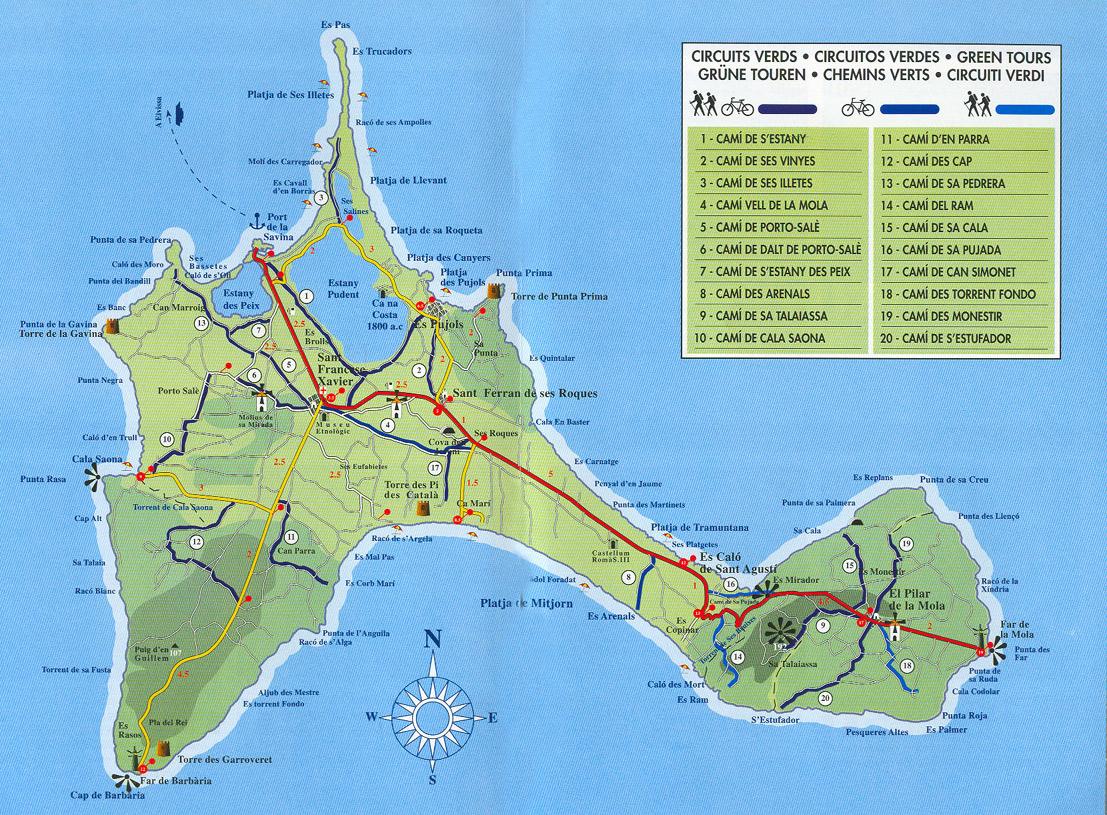 Formentera Guide Map Formentera mappery