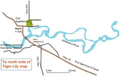 Fort Assiniboine Location Map