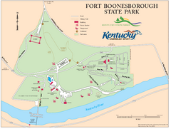 Fort Boonesborough State Park Map