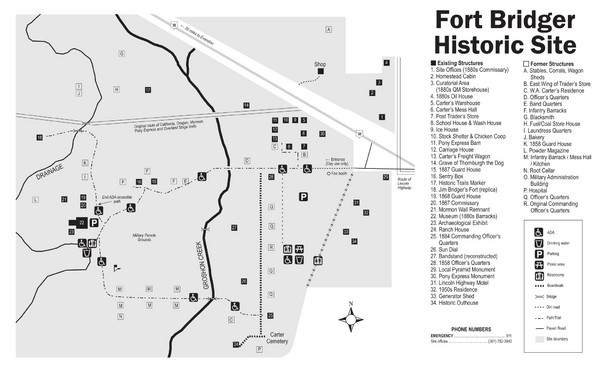 Fort Bridger State Historic Site Map