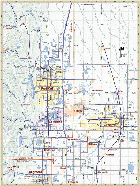 Fort Collins Colorado City Map Fort Collins Colorado Us Mappery