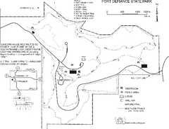 Fort Defiance State Park Map