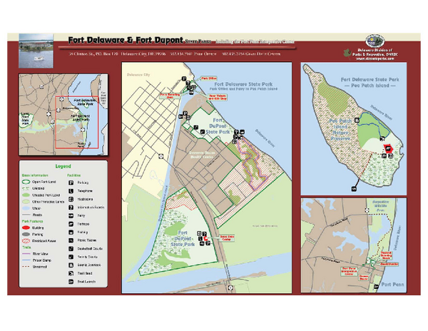 Fort Delaware State Park Map Fort Deleware State Park Deleware - Delaware location in usa map