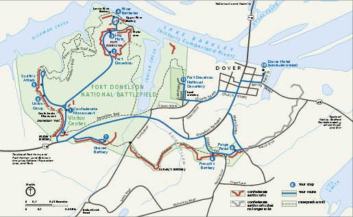 Fort Donelson National Battlefield Official Map Fort Donelson - Fort donelson on us map