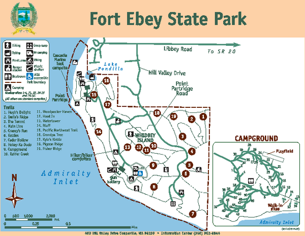 Fort Ebey State Park Map 400 Hill Valley Drive