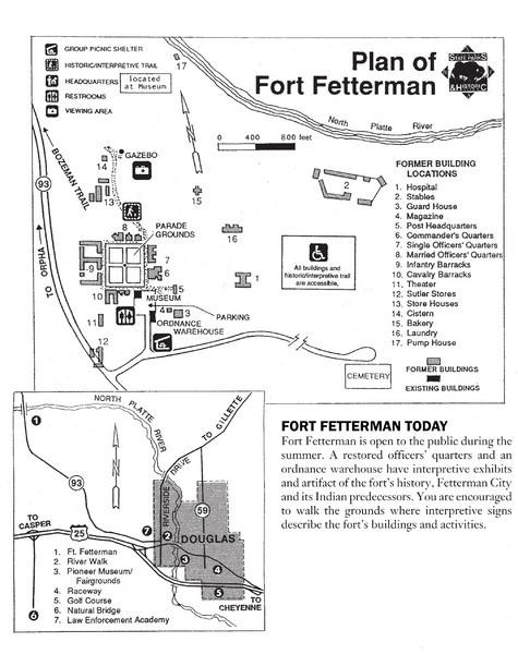 Fort Fetterman State Historic Site Map