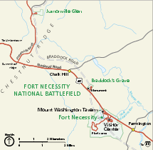 Fort Necessity National Battlefield Official Map