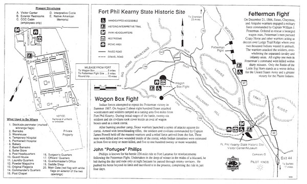 Fort Phil Kearny State Historic Site Map