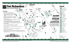 Fort Richardson, Texas State Park Facility and Trail Map