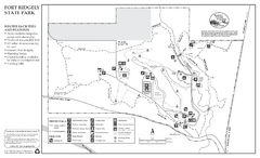 Fort Ridgely State Park Winter Map