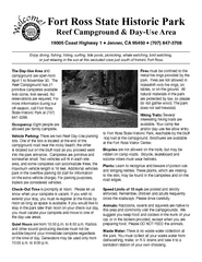 Fort Ross State Historic Park Campground Map