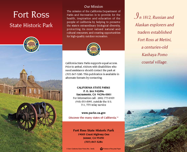 Fort Ross State Historic Park Map