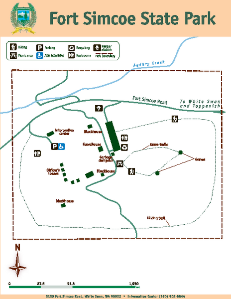 Fort Simcoe State Park Map