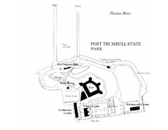 Fort Trumbull State Park map