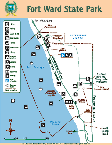 Fort Ward State Park Map