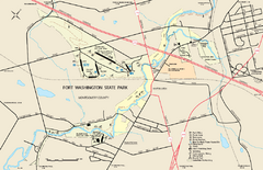 Fort Washington State Park map