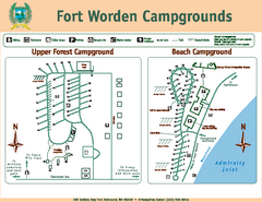 Fort Worden Campgrounds Map