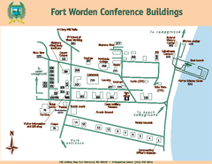 Fort Worden Conference Buildings Map