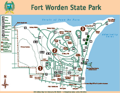 Fort Worden State Park Map