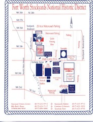 Fort Worth Stockyards Map