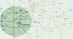 Fort Worth Surrounding Area Map