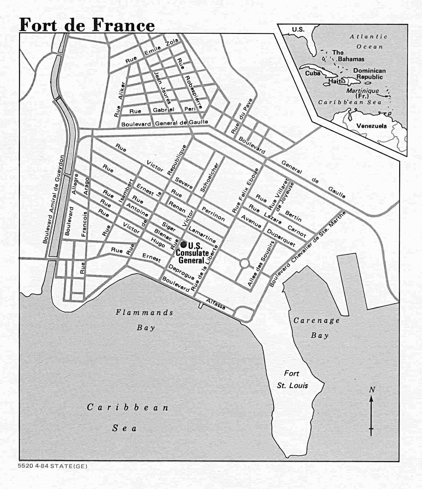Fort de France Street Map Fort de France Martinique mappery – Streetmap France