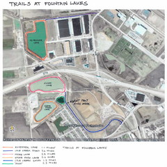 Fountain Lakes Trail Map
