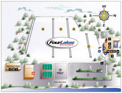 Four Lakes Village Ski Trail Map