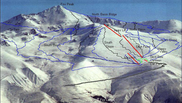 Fox Peak Ski Trail Map