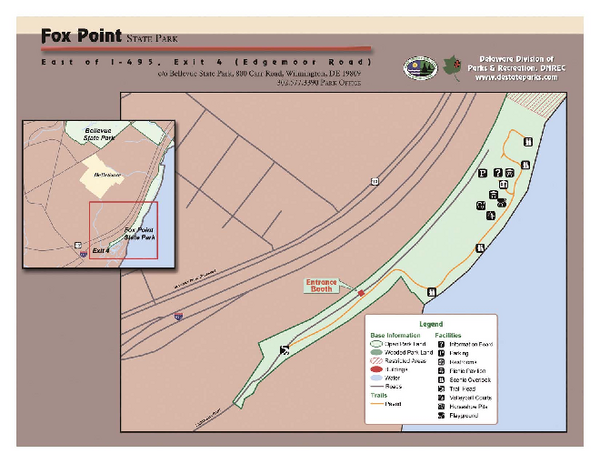 Fox Point State Park Map