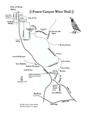 Foxen Canyon Wine Trail Map
